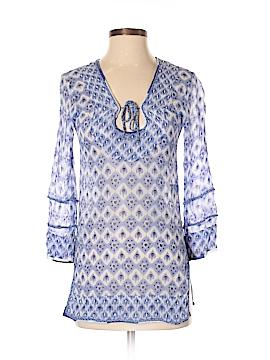 Letarte Long Sleeve Silk Top Size XS