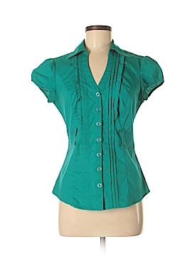 Heart Soul Short Sleeve Button-Down Shirt Size M