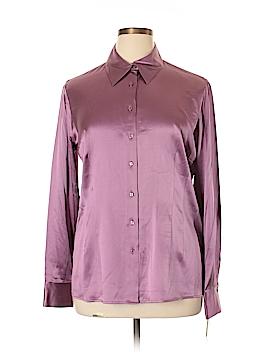Pendleton Long Sleeve Silk Top Size 16