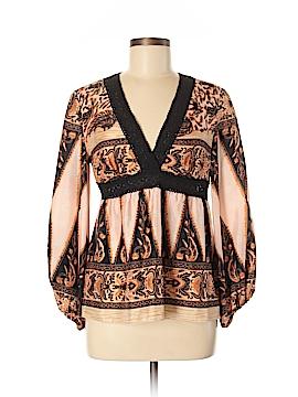 Manoush Long Sleeve Silk Top Size 38 (EU)