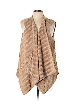 G by Giuliana Rancic Faux Fur Vest Size L