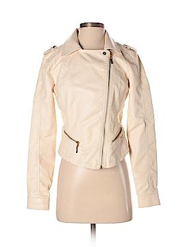 Bongo Faux Leather Jacket Size M