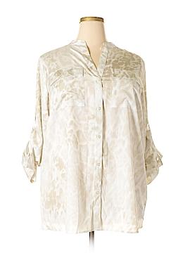 Calvin Klein Long Sleeve Button-Down Shirt Size 1X (Plus)