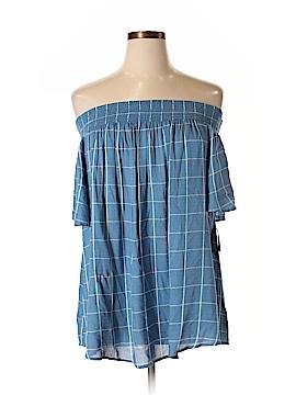 Style&Co Short Sleeve Blouse Size 1X (Plus)