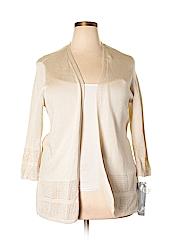 JM Collection Women Cardigan Size 2X (Plus)