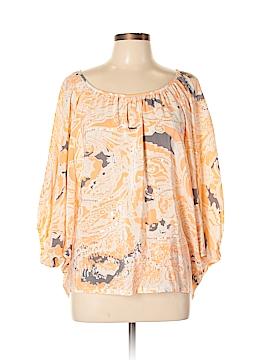 Saks Fifth Avenue 3/4 Sleeve Silk Top Size 10