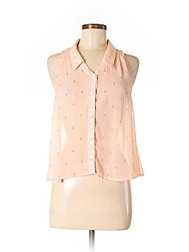 Mustard Seed Sleeveless Button-Down Shirt Size S