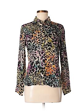 Foxcroft Long Sleeve Blouse Size 8 (Petite)