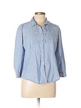 Harve Benard 3/4 Sleeve Button-Down Shirt Size XL