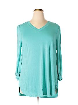 Melissa McCarthy Seven7 3/4 Sleeve Top Size 0X (Plus)