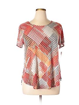 Alfani Essentials Short Sleeve Top Size 1X (Plus)