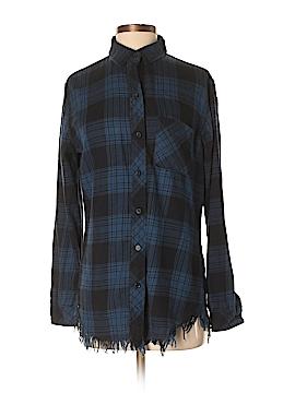 Peyton Jensen Long Sleeve Button-Down Shirt Size S