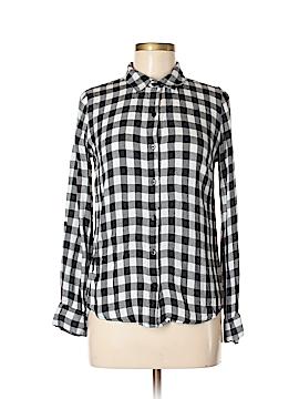 Mi ami Long Sleeve Button-Down Shirt Size S