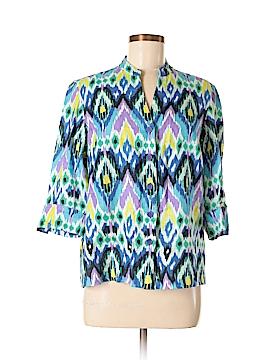 Jones New York Sport 3/4 Sleeve Button-Down Shirt Size M (Petite)