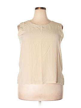 Bagatelle Sleeveless Silk Top Size 1X (Plus)