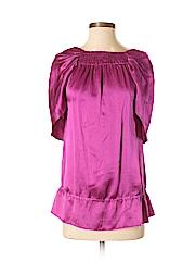 BCBGMAXAZRIA Women 3/4 Sleeve Silk Top Size XS