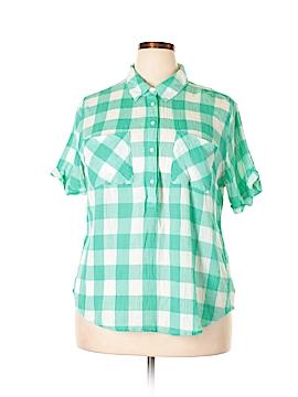 Merona Short Sleeve Button-Down Shirt Size XXL