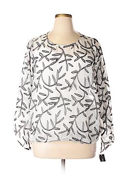 Alfani Long Sleeve Button-Down Shirt Size 1X (Plus)