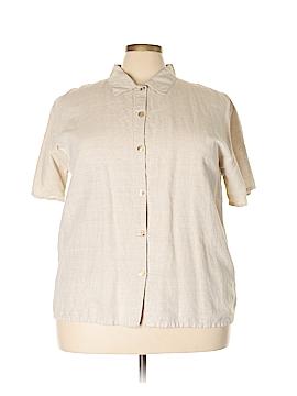 Hot Cotton Short Sleeve Button-Down Shirt Size 2X (Plus)