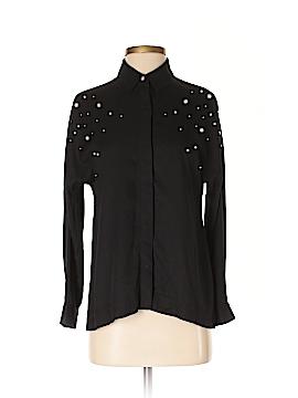 Zara Basic Long Sleeve Button-Down Shirt Size XS