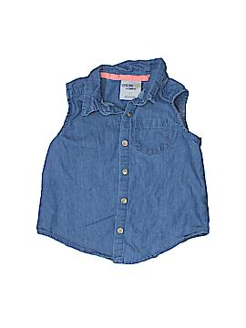Genuine Baby From Osh Kosh Sleeveless Button-Down Shirt Size 4T