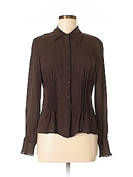 Sunny Leigh Long Sleeve Silk Top Size M