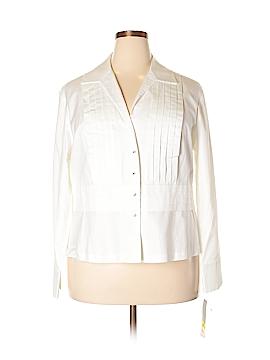 Jones New York Signature Long Sleeve Button-Down Shirt Size 2X (Plus)