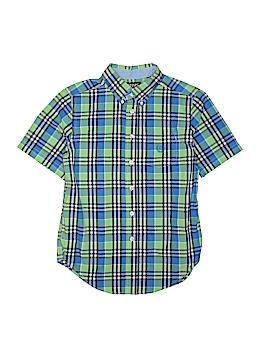 Chaps Short Sleeve Button-Down Shirt Size Medium kids(10-12)