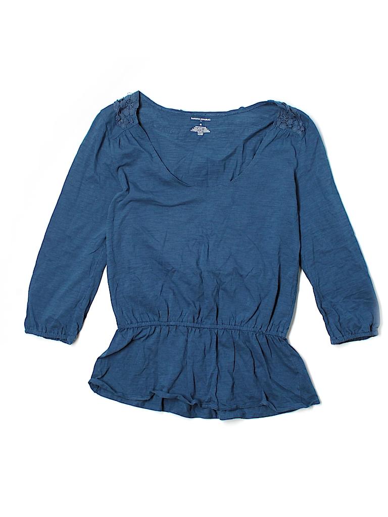 Banana Republic Factory Store Women 3/4 Sleeve T-Shirt Size M
