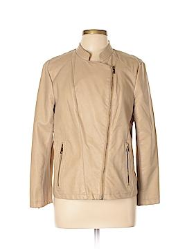 Calvin Klein Faux Leather Jacket Size L