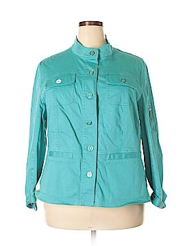 Jones New York Signature Long Sleeve Button-Down Shirt Size 3X (Plus)