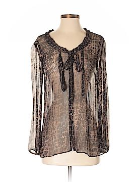 Noe + Zoe Long Sleeve Silk Top Size S