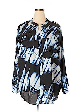 Calvin Klein Long Sleeve Blouse Size 3X (Plus)