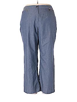 JM Collection Linen Pants Size 2X (Plus)