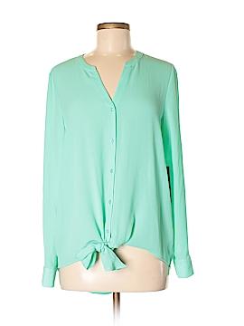 Apt. 9 Long Sleeve Button-Down Shirt Size M