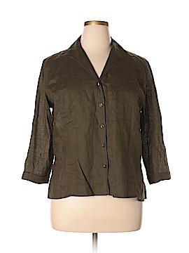 Doncaster Long Sleeve Button-Down Shirt Size 18 (Plus)