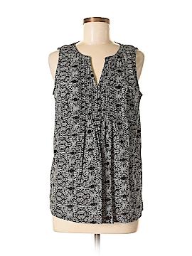 Caslon Sleeveless Button-Down Shirt Size S