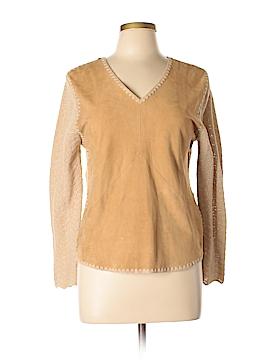 Dana Buchman Leather Top Size L (Petite)
