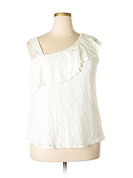 Monteau Short Sleeve Blouse Size 2X (Plus)