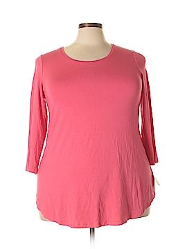 JM Collection 3/4 Sleeve T-Shirt Size 2X (Plus)