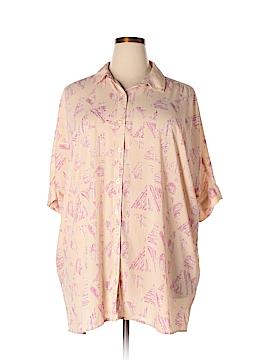 Melissa McCarthy Seven7 Short Sleeve Blouse Size XL