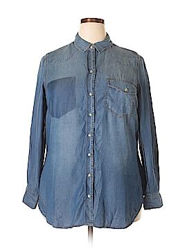 Melissa McCarthy Seven7 Long Sleeve Button-Down Shirt Size 1X (Plus)