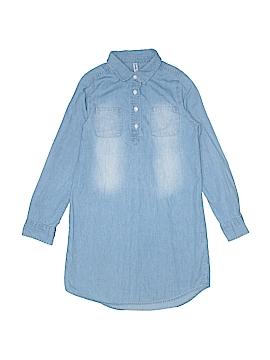 Fab Kids Long Sleeve Button-Down Shirt Size L (Kids)