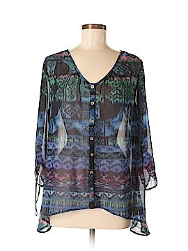 Nine West Vintage America 3/4 Sleeve Blouse Size M