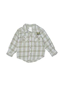 WonderKids Long Sleeve Button-Down Shirt Size 24 mo