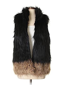 John Eshaya Faux Fur Vest One Size