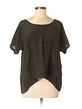 Gemma Short Sleeve Silk Top Size M