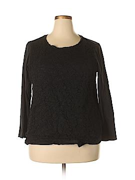 Laura Scott 3/4 Sleeve Top Size 1X (Plus)