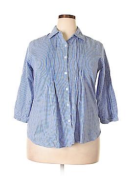 Serengeti 3/4 Sleeve Button-Down Shirt Size M