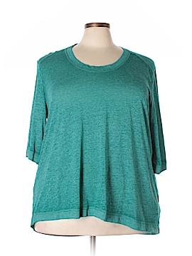 Melissa McCarthy Seven7 3/4 Sleeve T-Shirt Size 3X (Plus)